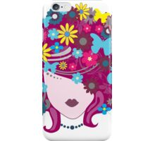 Floral Girl With Butterfly iPhone Case/Skin