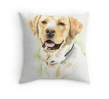 Labrador portrait Throw Pillow