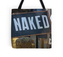 GET NAKED Humorous Design Tote Bag
