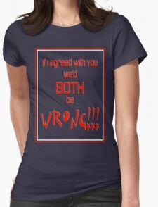 Both Wrong (Red/White) Womens Fitted T-Shirt