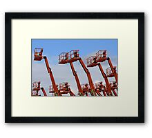Cage lifts Framed Print