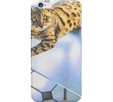 BENGAL TIGER CAT ON TABLE iPhone Case/Skin