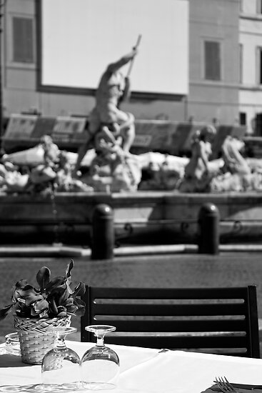Pizza on the Piazza by John Nelson