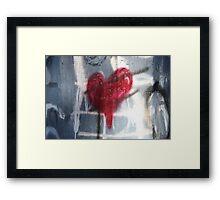 Heart graffiti  Framed Print