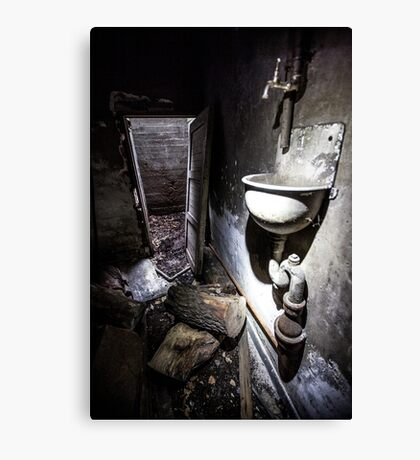 Wash your hands with.. Canvas Print