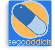 Sega Addicts - Classic Logo Canvas Print