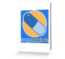 Sega Addicts - Classic Logo Greeting Card