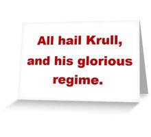 All Hail Krull Greeting Card