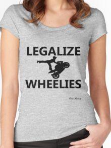 LEGALIZE WHEELIES  Women's Fitted Scoop T-Shirt