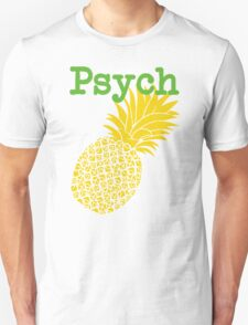 Minimalist Psych TV Show Pop Culture Lime Yellow Fun Green Pineapple T-Shirt