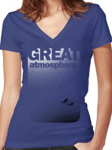 Great Atmosphere! Women's Fitted V-Neck T-Shirt