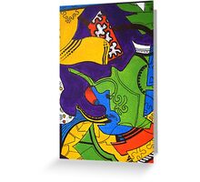 Tea for Two Abstract  Section 4  Greeting Card