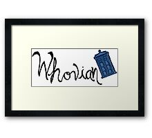 Whovian - Dr. Who Framed Print