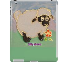 Cartoon Silly Sheep eating flowers iPad Case/Skin