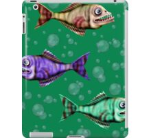 Jawels and friends with bubbles in green water iPad Case/Skin
