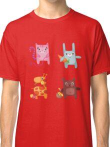 Kitty Bunny Giraffe Bear Cuties Classic T-Shirt