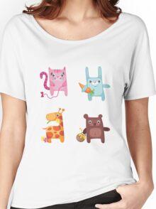 Kitty Bunny Giraffe Bear Cuties Women's Relaxed Fit T-Shirt