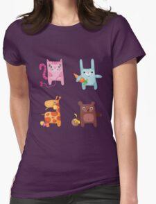 Kitty Bunny Giraffe Bear Cuties Womens Fitted T-Shirt