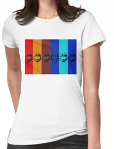 Red vs. Blue (group one) Womens Fitted T-Shirt