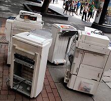Printer Lunch Break by Boyd Sleator