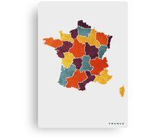France colour region map Canvas Print