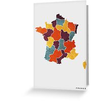France colour region map Greeting Card