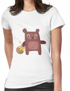 Bear Cutie Womens Fitted T-Shirt