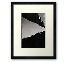 Void fence Framed Print
