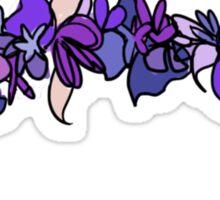 Flower Crown - Purple Sticker