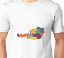 Austria colour region map   Unisex T-Shirt