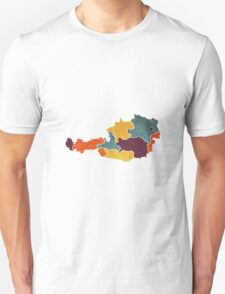 Austria colour region map   T-Shirt