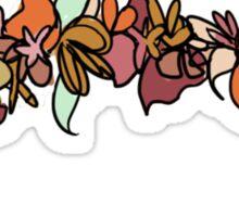 Flower Crown - Orange Sticker
