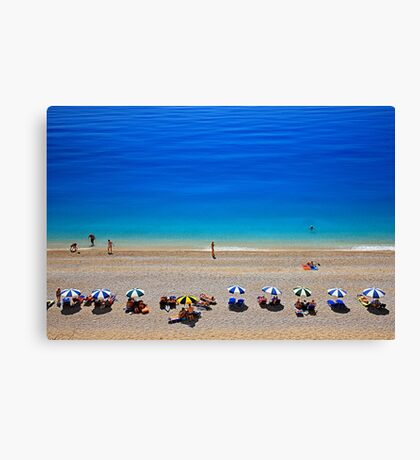 Egremni beach - Lefkada island Canvas Print