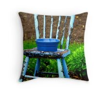 """blue chair"" Throw Pillow"