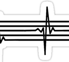 Music Heart Beat Sticker