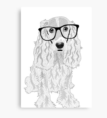 Clever dog Canvas Print
