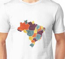 Brazil colour region map Unisex T-Shirt
