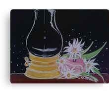 Lamp and Flowers Canvas Print
