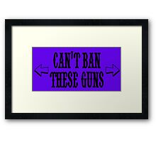 Can't Ban These Guns Framed Print
