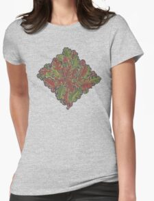 Oak leaves - Tataro pattern Womens Fitted T-Shirt