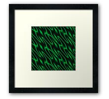 Scales Pattern (green) Framed Print