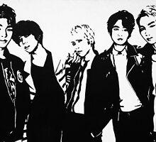 Shinee Black & White by FlowerPuffGirl