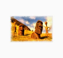 Alien Easter Island Holiday by Raphael Terra Unisex T-Shirt