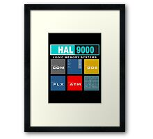HAL 9000 Black Edition Framed Print
