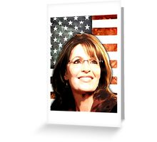 Sarah Palin Patriot Greeting Card