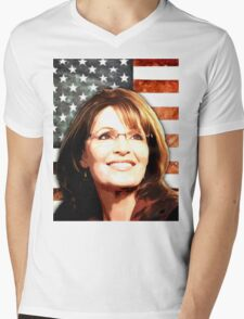 Sarah Palin Patriot Mens V-Neck T-Shirt