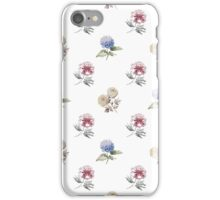 Seamless pattern with watercolor flowers iPhone Case/Skin