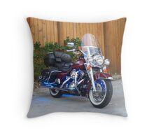 Beatiful Bike with Blue StreetGlo Throw Pillow