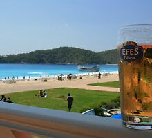 Beer by the beach - Olu Deniz, Turkey by craigs79