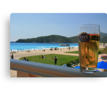 Beer by the beach - Olu Deniz, Turkey Canvas Print